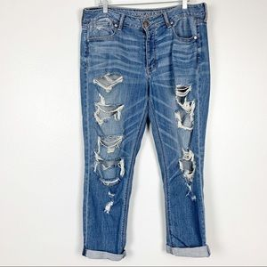 American Eagle | Tomgirl Jeans Ripped Destroyed 14